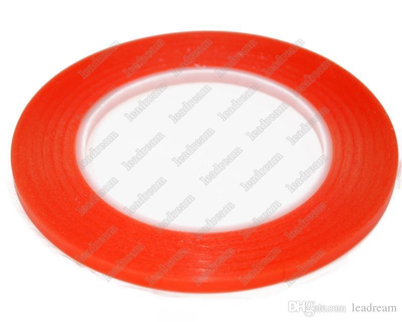 300 STÜCKE Rote Farbe 2mm 3mm 5mm Doppelseitenklebeband Fix Für Handy Touchscreen LCD