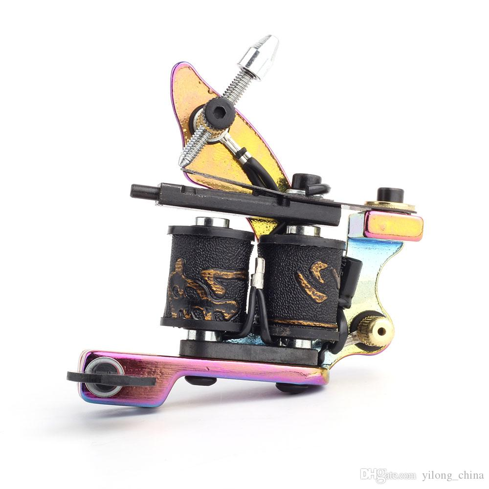 Hot Professional Tattoone Tattoo Gun Machine Handmade Tattoo Machine 10 Wrap Coils Tattoo Machine