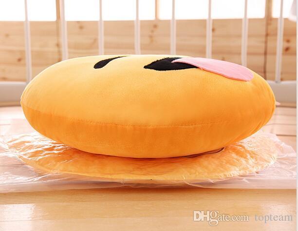 20 styles 35cm emoji stuffed plush pillows QQ expression cushion cartoon smiley pillow cushions yellow round pillow stuffed plush toys gifts