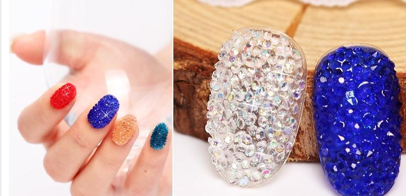Wholesale New Fashion Mini Nail Art Zircon Rhinestones About 12mm