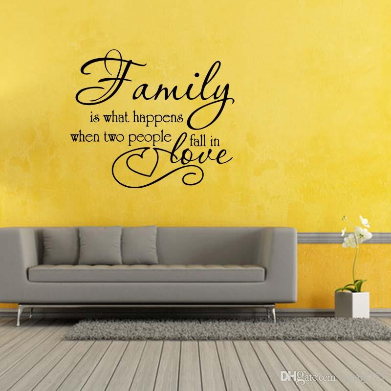 Family Love Quote Vinyl Wall Decal Sticker Art Personality Removable ...