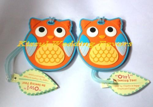 Baby shower gifts of Owl Be Seeing You Owl Luggage Tag For baby birthday Party Favors and Baby celebrations