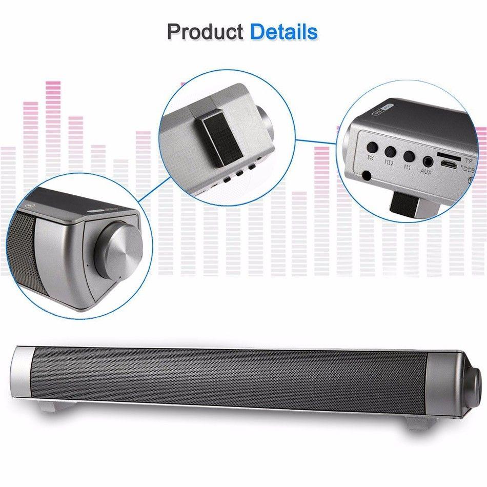 Slim Magnetic Wireless Soundbar LP-08 HIFI Box Bluetooth Subwoofer Speaker Boombox Bar stick LP08 Portable Hands-free FOR TV PC Smart phones