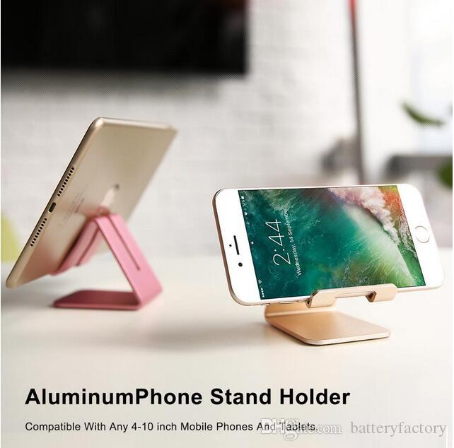 Cell Phone Stand Universal Aluminum Metal Phone Holder For iPhone 6 7 Plus Samsung S8 Tablet Desk Phone Holder Stand For Smart Watch