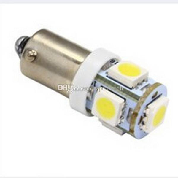2x White Light Super Bright 12V T11 BA9S 5050 SMD 5-LED Car Light Bulb Lamp M00104