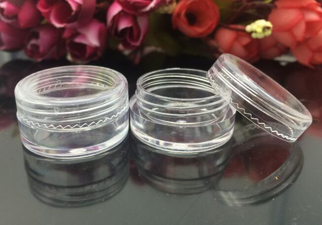 0.17 oz Clear Empty Plastic Container Tarros Maceta 5 gramos Crema cosmética Sombra de ojos Uñas Polvo Joyas