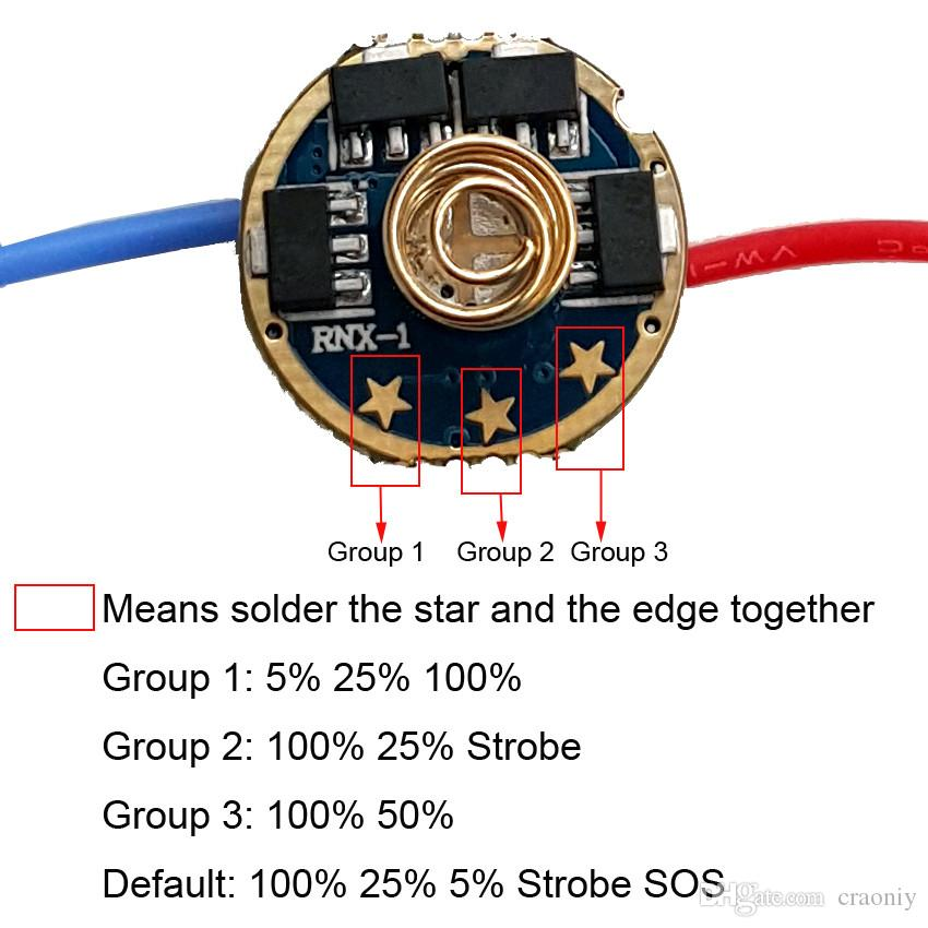 7135*8 4 Group Modes 2800mA 17mm Flashlight DIY Driver Board flashlight Circuit Board