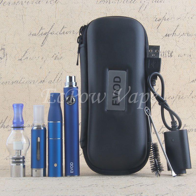 3 In 1 Vaporizer dry herb wax vape pen kit ecig herbal atomizer e-liquid MT3 vaporizers wax tank eGo evod starter kits