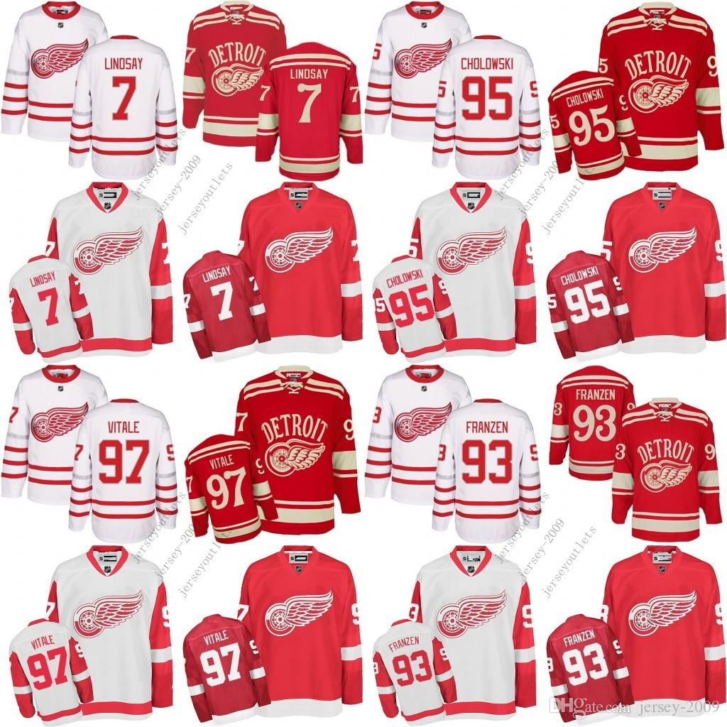 2017 Centennial Classic Men Detroit Red Wings 93 Johan Franzen 97 ... 98a877a02