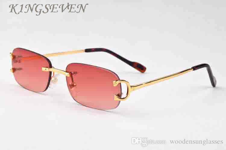 Newest Rimless Sunglasses Women Brand Designer Retro Sunglasses Classic Female Gradient Sun glass Men Vintage Points Sun Glasses