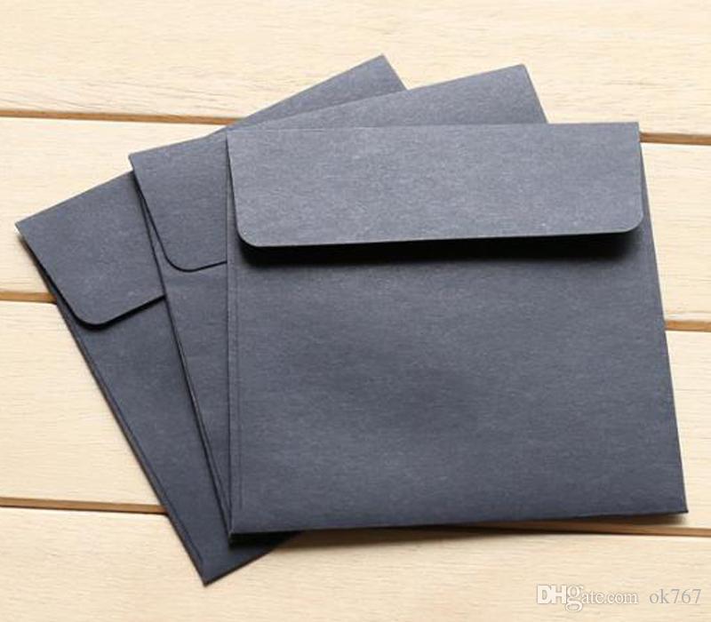 10*10cm Kraft Square Mini Blank Envelopes for Membership Card / Small Greeting Card / Storage Paper Envelopes
