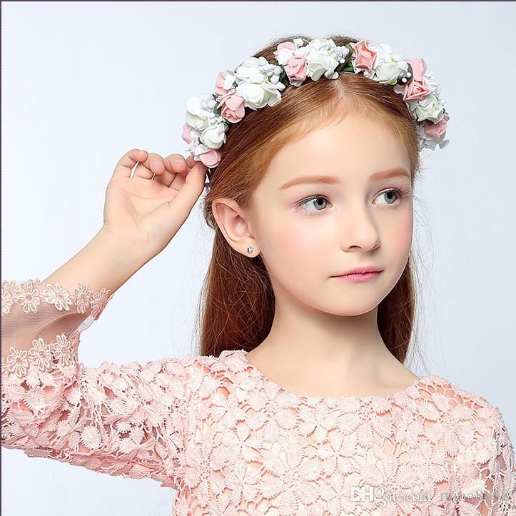 Wholesale Rose Headband Kids Hairband Bohemian Flower Crown Tiara Floral  Headwear Adjustable Ribbon Kids Hair Accessories Drop Shipping UK 2019 From  ... 99aca4e5b9b