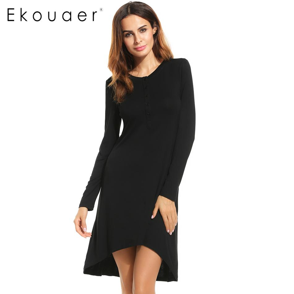 09998626f06 2019 Wholesale Ekouaer Nightgowns & Sleepshirts 2016 Women Autumn Sleepwear  Bath Bathrobe Sexy Slim Long Sleeves Dresses Nightdress From Humphray, ...
