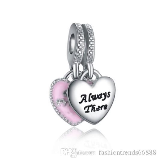 d9342dc472c6 Se adapta a Pandora Charm Bracelet Best Friends Always There Beads Sterling  Silver Dangle DIY joyería hecha a mano para Chamilia encantos de las ...