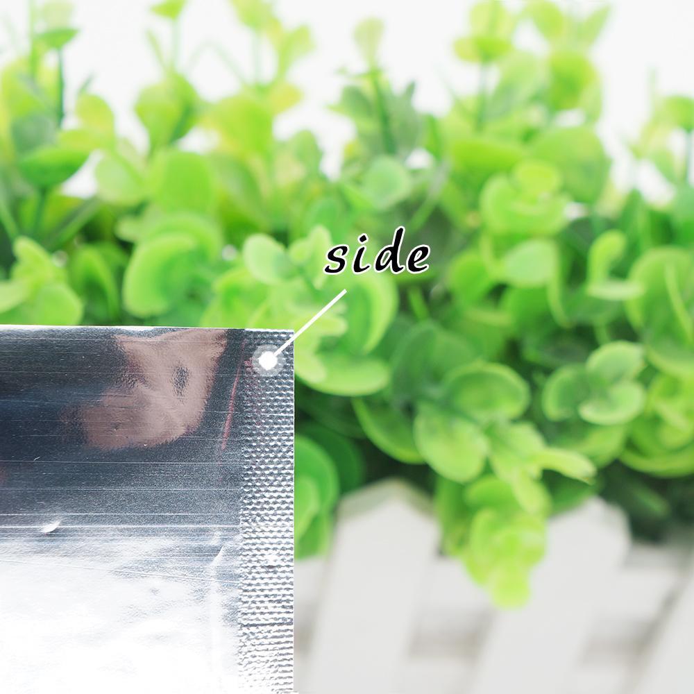 14 * 20 cm Alüminyum kaplama düz cep Isı Mühür Kaplama Alüminyum Folyo Çanta Gıda depolama Kozmetik ambalaj Nokta 100 / paket