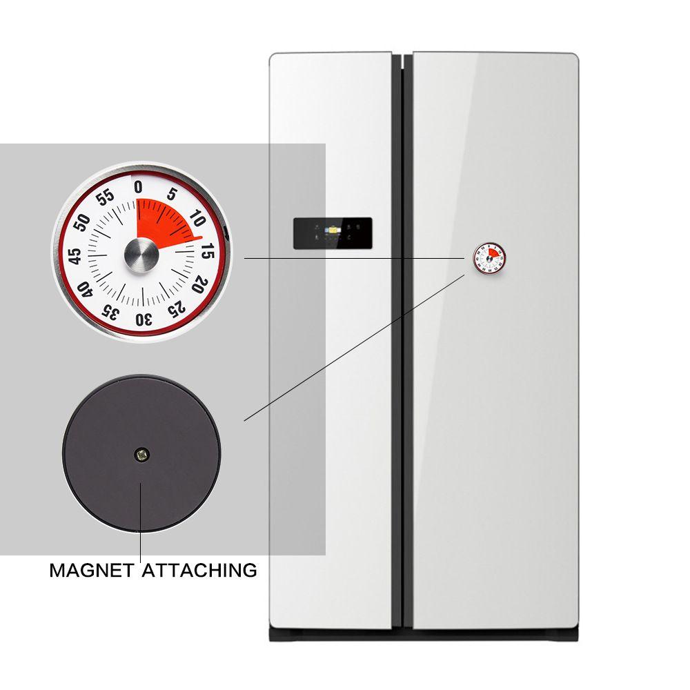 Baldr 8 cm Mécanique Compte à rebours En Acier Inoxydable Minuterie Magnétique Temps de Cuisson Rappel Horloge Alarme Pratique Cuisine Outils Vente Chaude 25tc A R