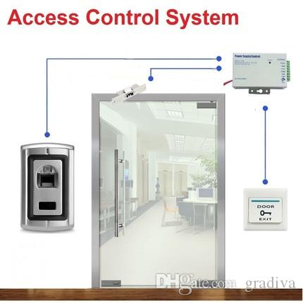 Fingerprint Door Access Control System for Frameless Glass Door Electric Strike Lock Kit Online with $125.69/Piece on Graau0027s Store | DHgate.com  sc 1 st  DHgate.com & Fingerprint Door Access Control System for Frameless Glass Door ...