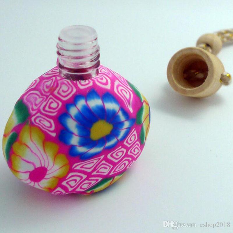 Neu kommen das keramische Wesentlichöl der Autohängedekoration Duftstoffflasche an Hängeseil leere Flasche freies Verschiffen