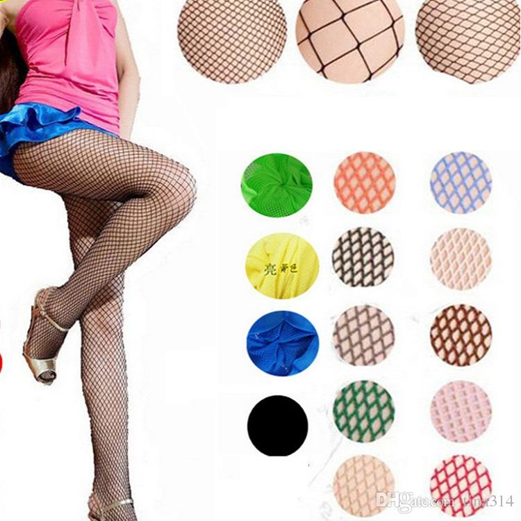 3a99165c3 2019 Wholesale Sexy Socks For Women Fashion Fishnet Stockings Ladies Fishnet  Net Pattern Burlesque Hoise Pantyhose Tights BA062 From Tina314