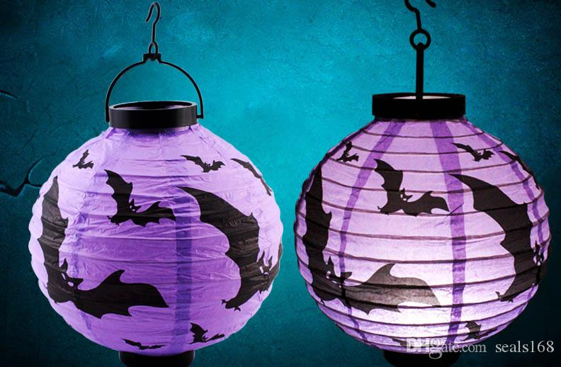 Led Pape Lantern Pumpkin Skull Ghost Hanging Light Lamp Halloween Christmas Party Decor Gifts Outdoor Party Prom Supplies HH7-128