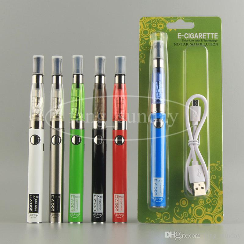 eGo eVod CE4 Vape Pen Blister Pack Price Vaporizer Starter Kits E Cig with UGO V II USB Pass Through EGO BATTERY