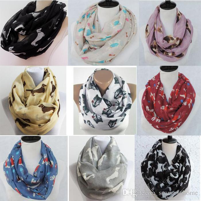 Factory Direct Sale Animal Print Voile Cotton Infinity Scarf All ...