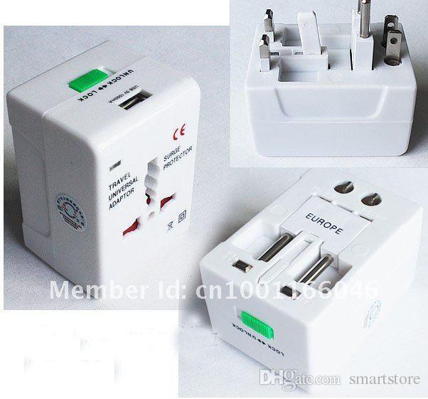 Tutto in un viaggio universale AC Power Charger Plug Adapter US Regno Unito EU AU portatile Spedizione gratuita 0001