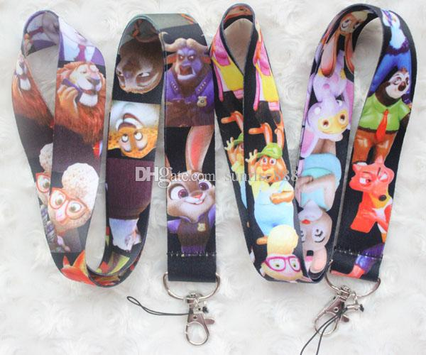 Hot sale wholesale 1000pcs cartoon animals image mobile phone lanyard fashion keys rope exquisite neck rope card rope free shipping 248