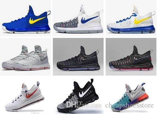online store d5f61 31b44 2016 Hot Sale KD 9 Mens Basketball Shoes KD9 Oreo Grey Wolf Kevin Durant 9s  Men S Training Sports Sneakers Warriors Home US Size 7 12 Sneakers On Sale  East ...