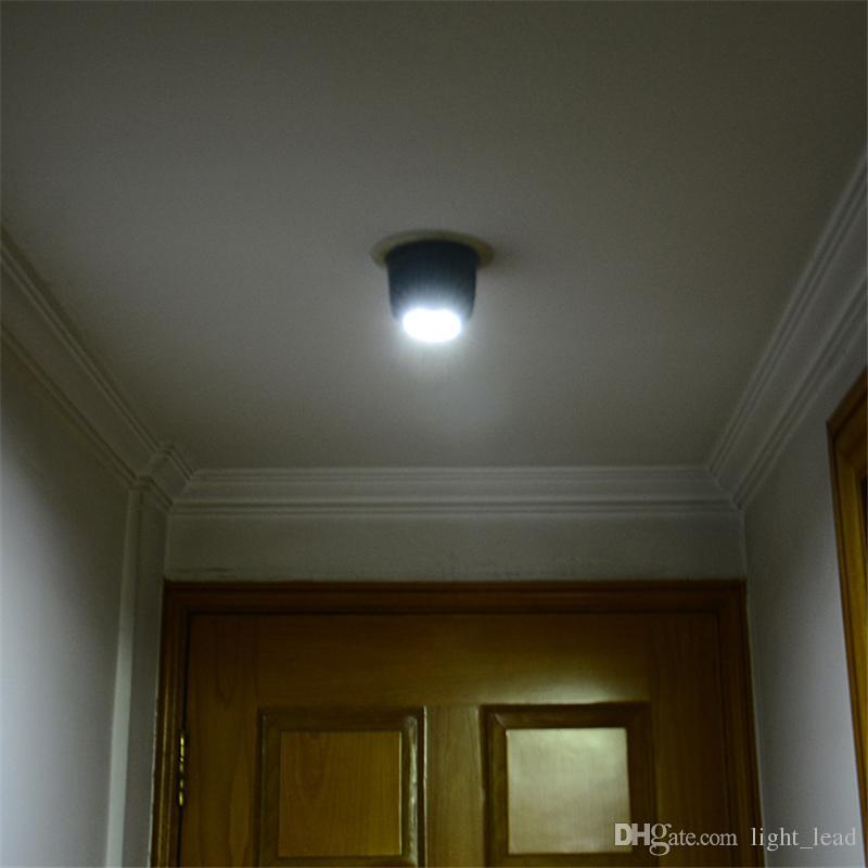 9LED 3*2A Battery Operating LED Light Control Human Body Induction Energy Saving Lamp 360 Degree Rotation Automatic Sensor Light