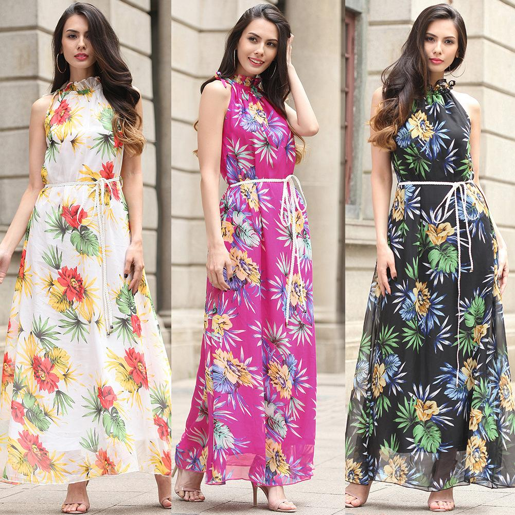 Women Maxi Holiday Dress Sexy Sleeveless Party Dresses For Juniors