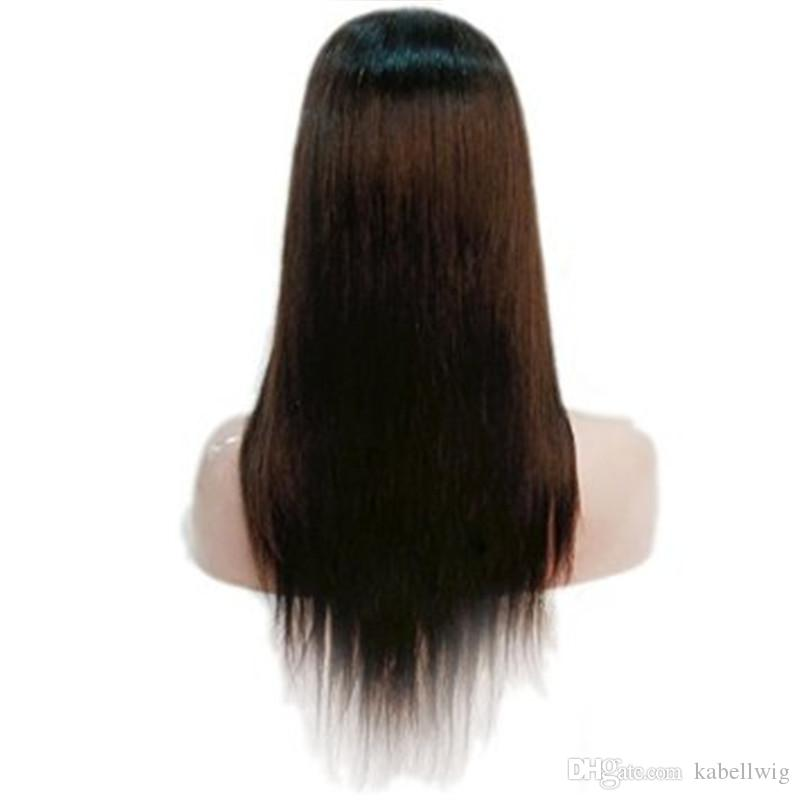 Hot Sale Or Part Of Brazilian Virgin Hair 100% Full Lace Wigs Upart Weaving Sedosas Straight Wig Glueless Full Of My Shoelaces Woman Color 2