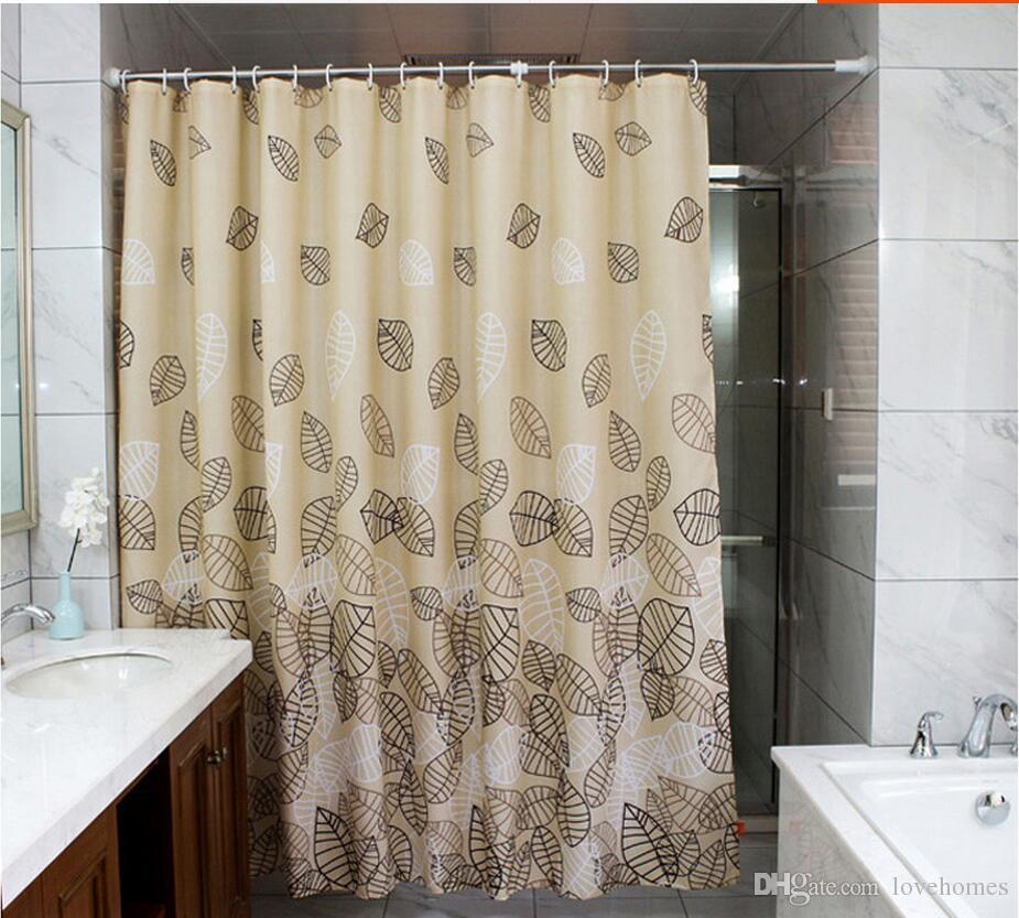 جودة عالية حمام النسيج دش الستار 220x200 سنتيمتر w150xh200cm حمام ستارة حمام الشاشة للماء ث / دش السنانير