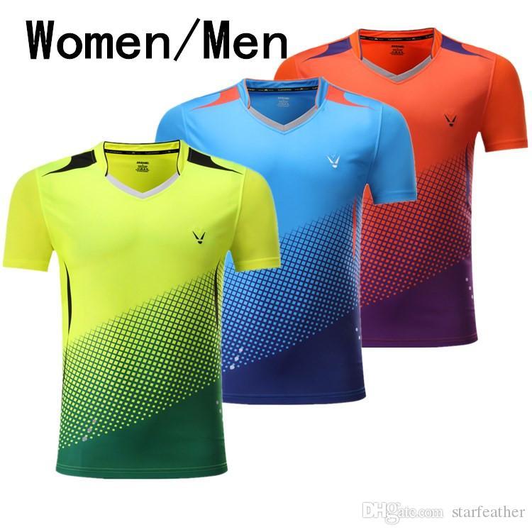 4942a82dded8 Горячая, новая одежда, теннис / бадминтон мужчины / женщины футболка летом  теннис ...