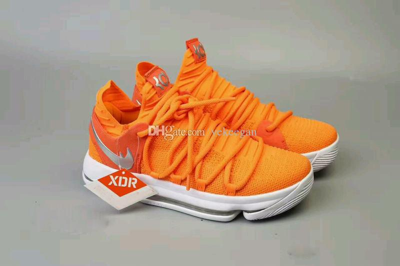 2019 Cheap Kd 10 Mvp Sneakers Mens Orange Basketball Shoes From