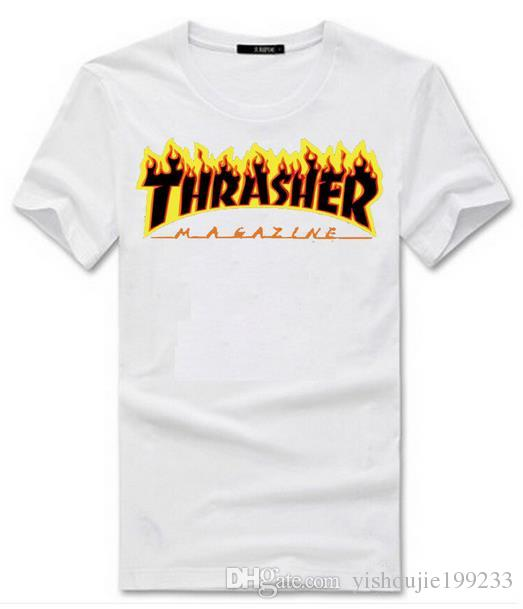 Cheap! Thrasher Print Tshirt Polyester Compression T Shirt Men And ...