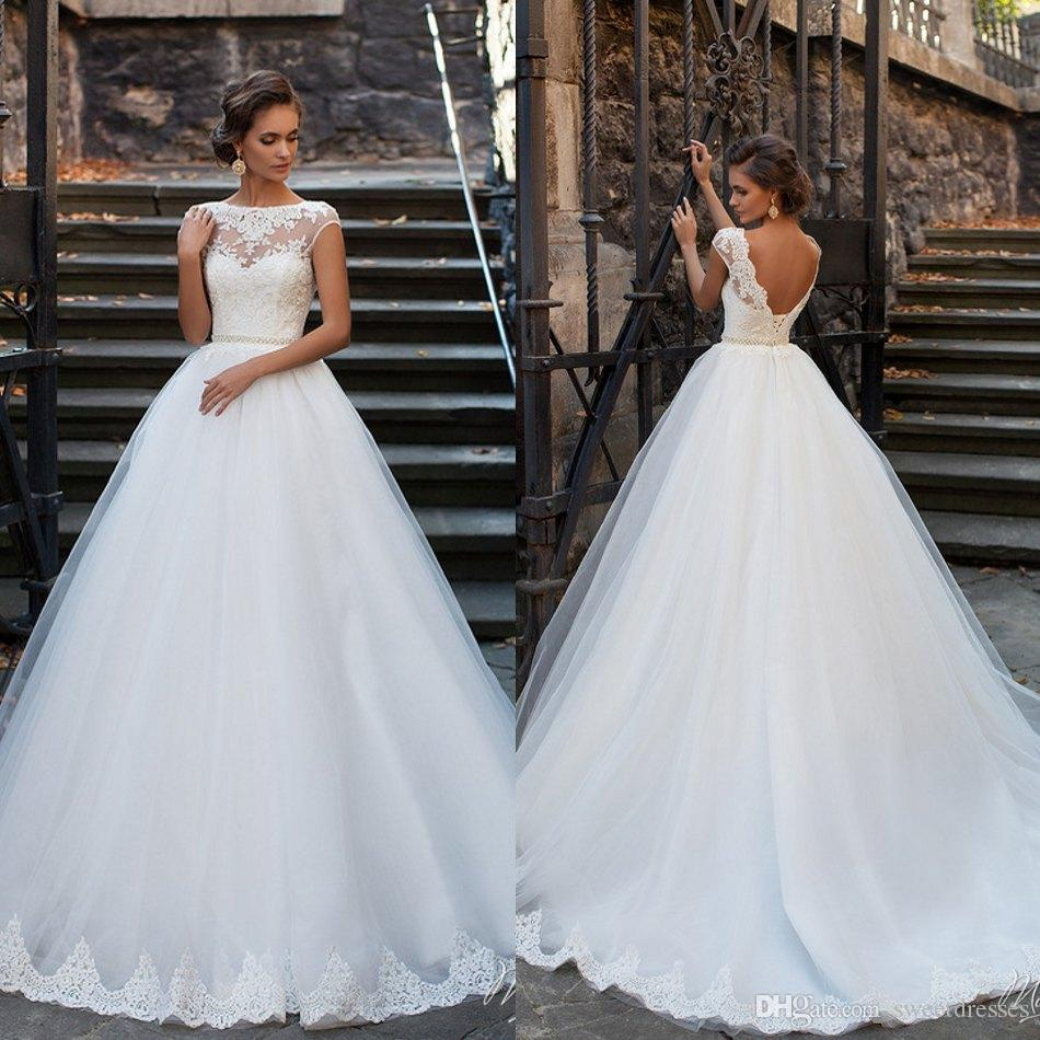 Discount Beautiful Milla Nova Tulle 2017 Jewel Wedding Dresses ...