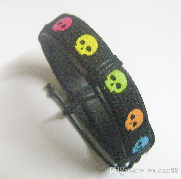 I braccialetti di cuoio dei braccialetti di colore della miscela / i monili di modo del mestiere di DIY Gfit liberano il trasporto regolabile 7-11inch LW3