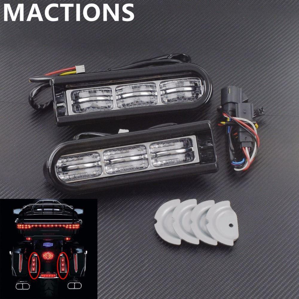 Led Inserts Saddlebag Filler Motorcycle Support Lights For Harley