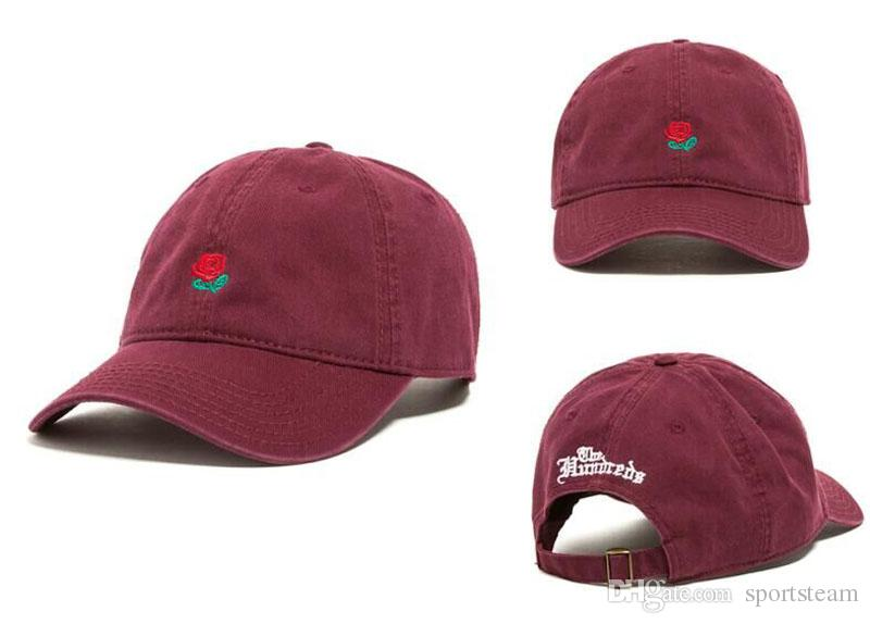 59dcadfb17d the hundred rose dad hat black  the hundreds rose wine red womens mens  peaked cap cricket baseball cycling bike running sports yoga