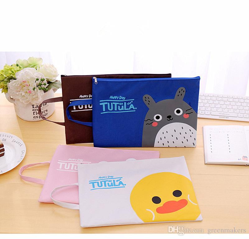 cartoon A4 Bag Fabric File Folder For Documents Stationery bag 33*24cm Document Bag School Suppliers A4 File