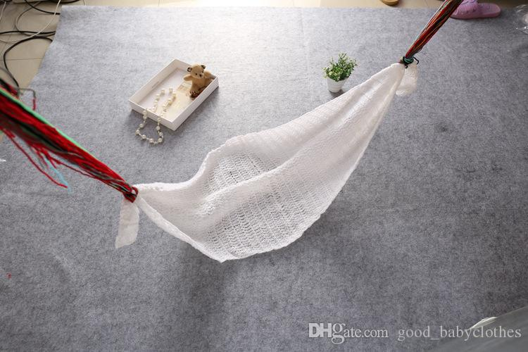 Crochet White Hammock Baby Photography Props Boy Unisex Knitted Photo Props Newborn Bebe Foto Props 0-1M