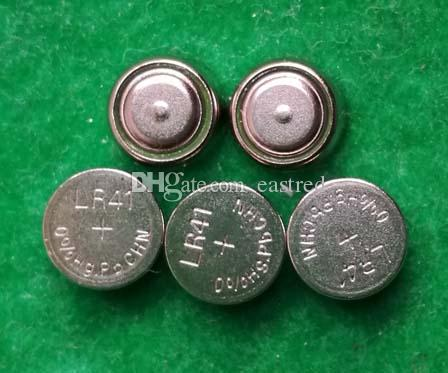 parti 0% HG PB Mercury Free AG3 LR41 392 SR41 192 1,5V Alkalisk knappcell Batteri för klockor, Gratis frakt Färska batterier