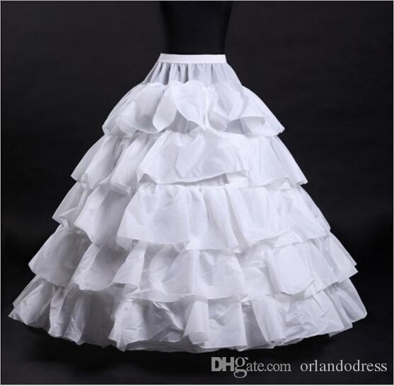 2017 Nuovo Wedding Petticoats caldo di vendita del 50% di sconto sfera poco costoso abito bianco 4-Hoop 5 strati di slittamento del Underskirt crinolina abiti da sposa