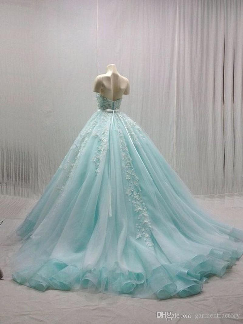 Gorgeous Ball Gown Prom Dresses 2017 New Arrival Sweetheart Neck ...