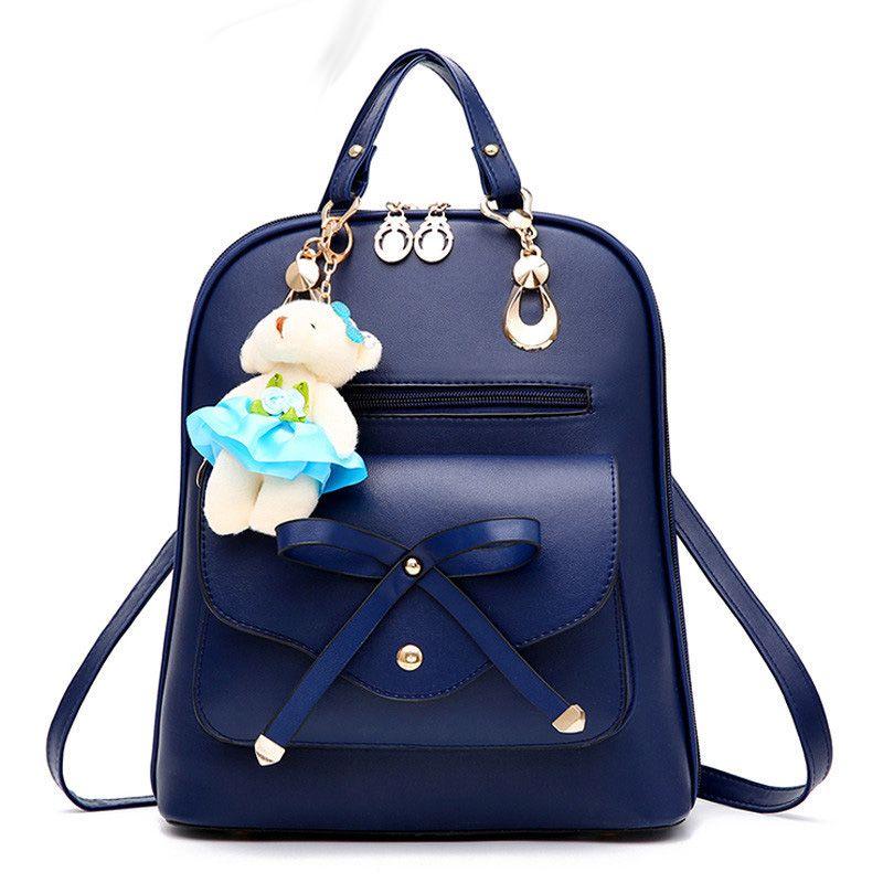 c57cf017b4 High quality PU leather backpack school travel bag women bolsos vintage  backpacks black For Girls Teenagers