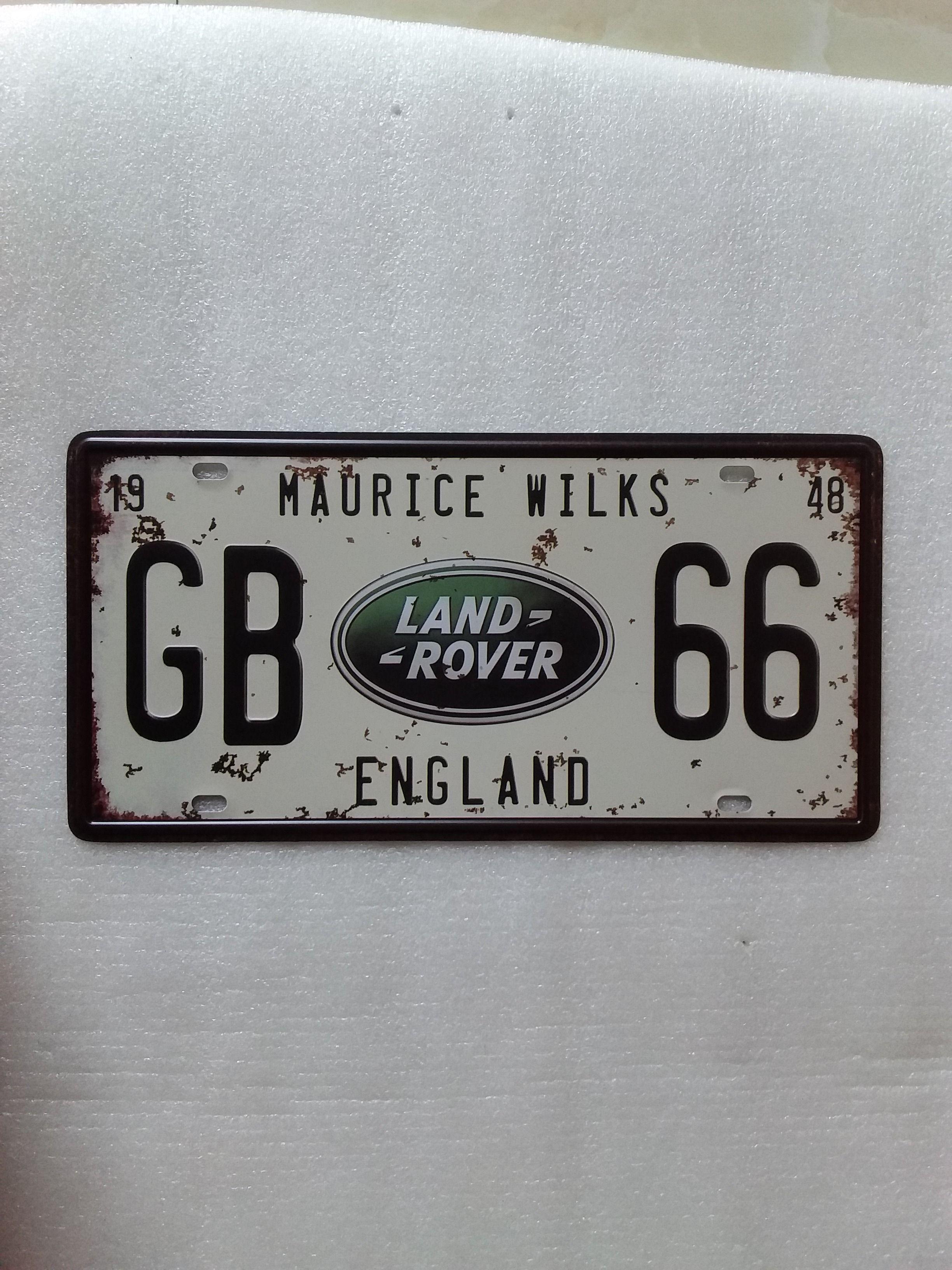 2018 Gb 66 England Maurice Wilks Vintage Metal Plaque Car Number ...