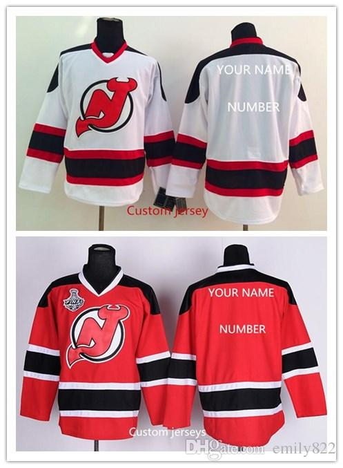 2017 cheap stitch custom ice hockey mens new jersey devils custom nhl jersey name and number