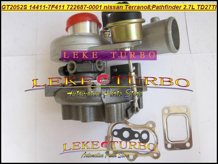 GT2052S 14411-7F411 722687-5001S 722687 turbo Nissan Terrano II 2001 Pathfinder 2.7L 01-05 TD27TI Turbocharger (2)