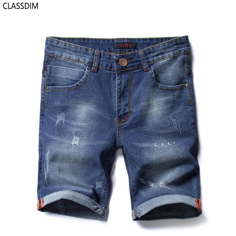 1b4216a60e9 Classic Denim Shorts Men s Summer Blue Denim Casual Shorts New Male ...